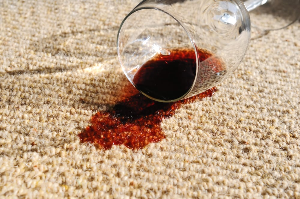 how to remove wine stain from carpet