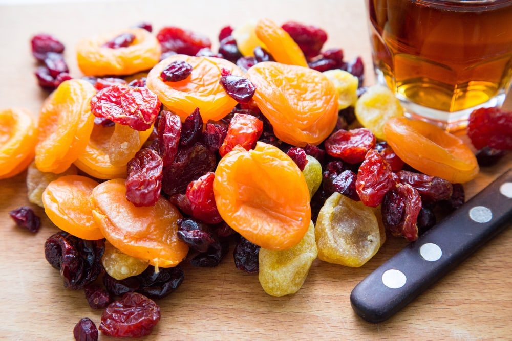 microwave dried fruit